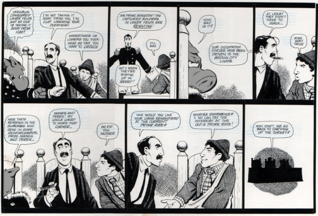 Dave Sim -Cerebus and Lord Julius