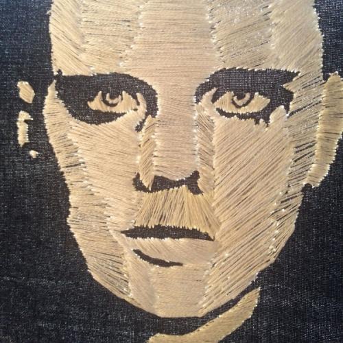 Billy Corgan- Adore- embroidery portrait