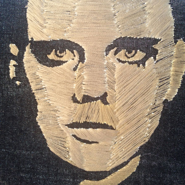 Billy Corgan- Adore- embroidery portrait