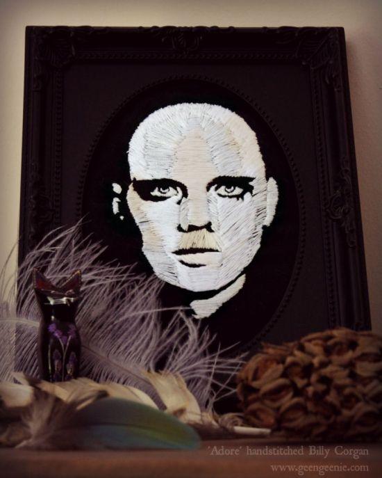 Smashing Pumpkins Billy Corgan- hand stitched portrait- bridgeen gillespie-2014