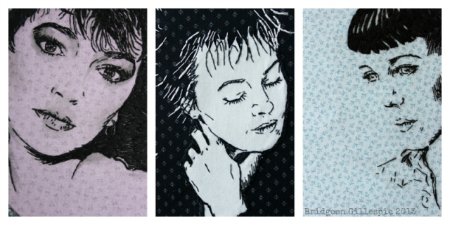 This woman's work- textile portraits