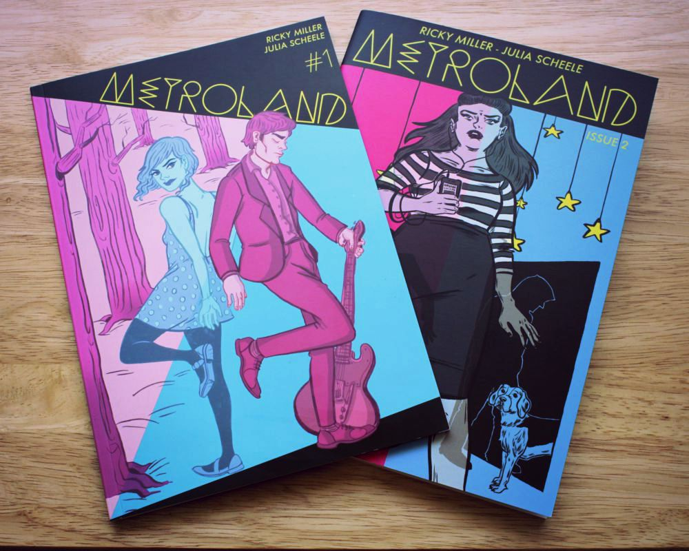 Metroland issues 1 and 2 Covers