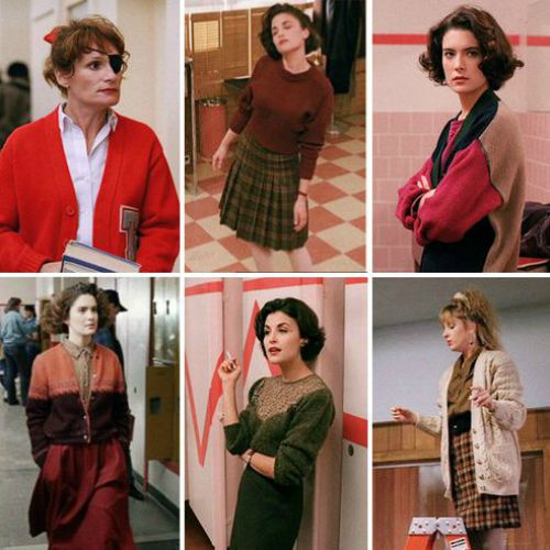 twin peaks knitwear looks