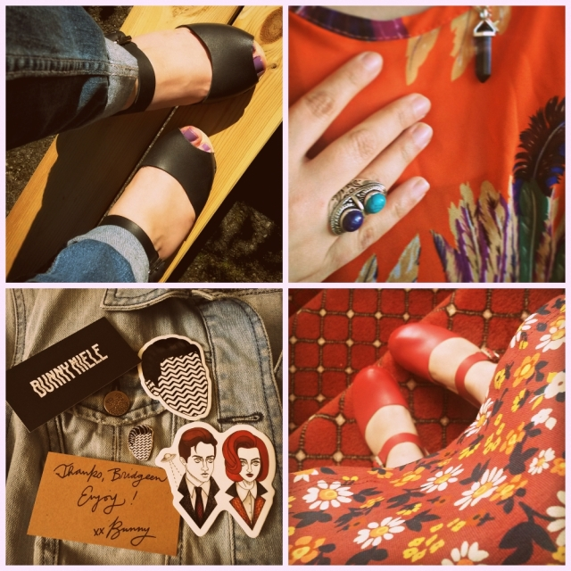 70s Stylings- featuring clogs denim and the colour orange