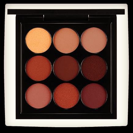 Grunge eye palettes featuring mac burgundy x 9