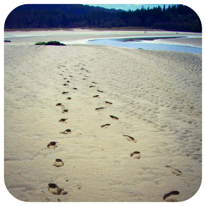 Footprints in the sand - vs internet foot prints