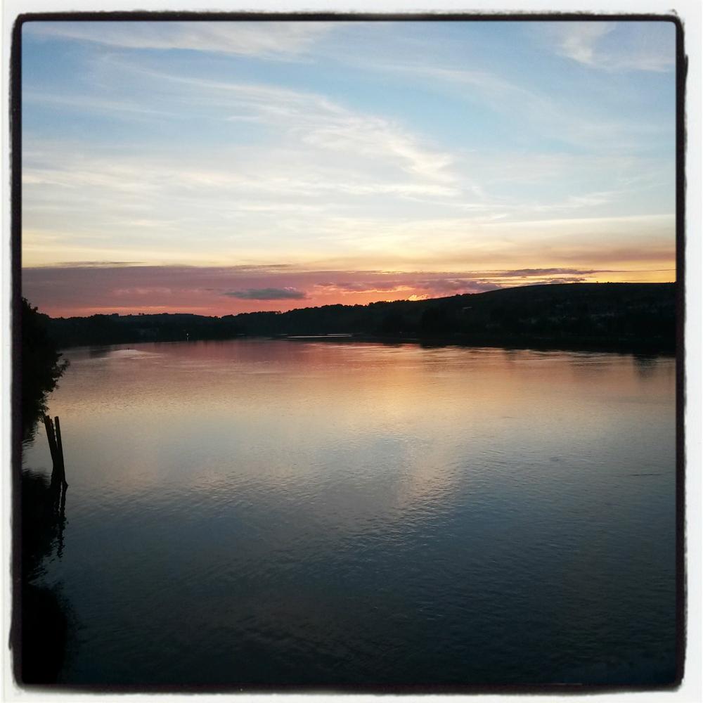 River sunset- kicking unhelpful habits