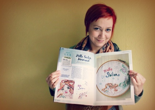 Me with my first craft pattern in a magazine 2012