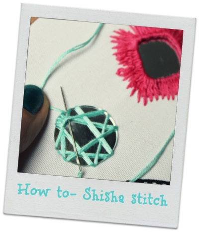 How to Shisha stitch- tutorial image by bridgeen gillespie