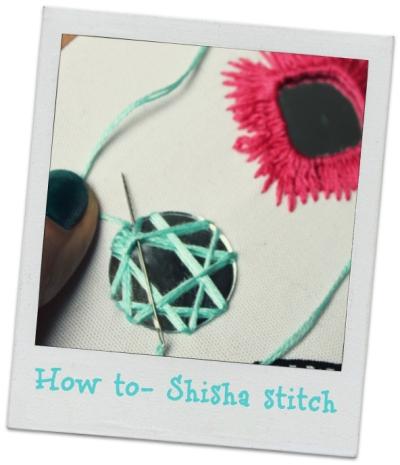 How to Shisha stitch- tutorial image by bridgeen gillespie