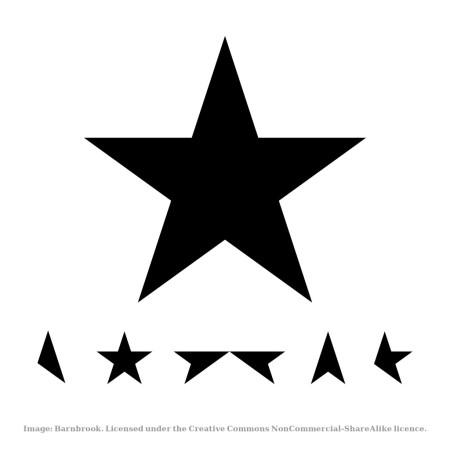 David Bowie Blackstar design elements- free download