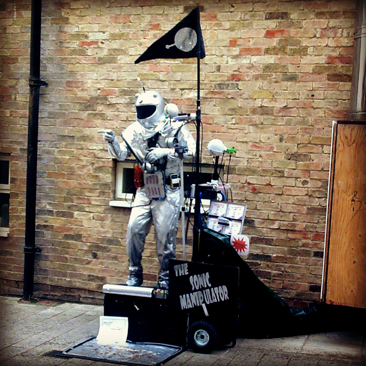 Where are you from-Spaceman Cambridge Street Performer