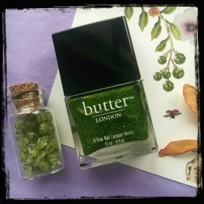 Swinger - Butter London - peridot glitter green polish