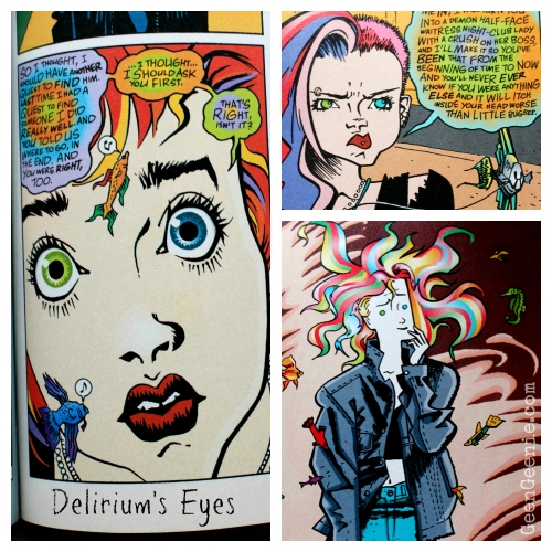 Deliriums eyes- Sandman Bowie reference