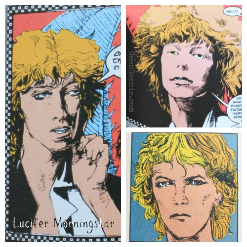 Lucifer Morningstar- Bowie in Sandman Comic
