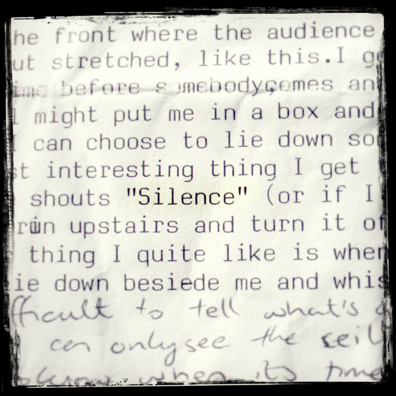Performance notes- 90s arts student