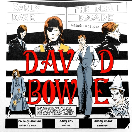 David Bowie Life in a Comic - colourist bridgeen gillespie