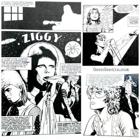 David Bowie Life in a Comic