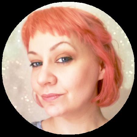Peach hair circle 2